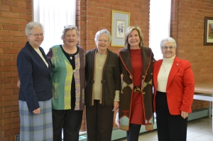 Sr. Mary Pezold, Bridget Flood, Sr. Annette Pezold, Nancy Hawes, and Sr, Helen Ann Collier